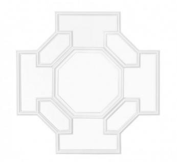 Casa Padrino Designer Luxus Wandspiegel Weiß 80 x H 80 cm - Luxus Hotel Spiegel