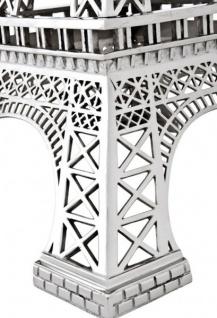 Casa Padrino Luxus Standleuchte Eiffelturm Silber - Massives vernickeltes Metall - Leuchte Lampe - Tischleuchte Tischlampe, Stehleuchte, Stehlampe - Vorschau 2