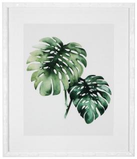 Casa Padrino Bilder / Kunstdruck Set Tropische Pflanzen Grün / Weiß 59 x H. 69 cm - Luxus Deko - Vorschau 3