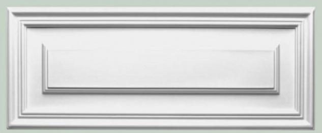 Casa Padrino Wandpaneel Weiß 55 x 1, 7 x H. 22 cm - Rechteckiges Paneel - Deko Accessoires