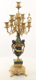 Casa Padrino Barock Kerzenständer Set Gold / Grün 22 x 26 x H. 62, 4 cm - Barockstil Möbel - Vorschau 3