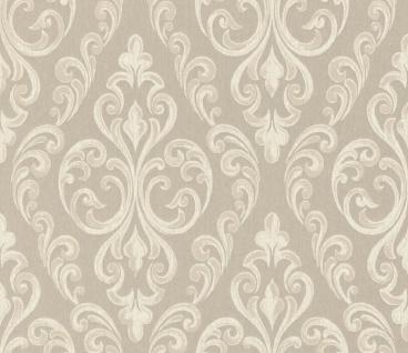 Casa Padrino Barock Textiltapete Beige / Creme 10, 05 x 0, 53 m - Hochwertige Wohnzimmer Tapete