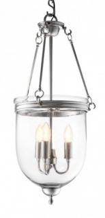 Casa Padrino Luxus Laterne - Luxus Nickel Hängeleuchte Durchmesser 32 x H 70 cm - Vorschau 2