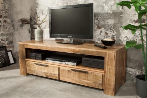 Casa Padrino Designer Fernsehschrank Natur B.130cm x H.45cm x T.45cm - Sideboard - Kommode - Handgefertigt aus Mango Massivholz! - Vorschau 2