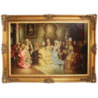 Riesiges Handgemaltes Barock Öl Gemälde konzert Mod.2 Gold Prunk Rahmen 225 x 165 x 10 cm - Massives Material