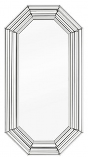 Casa Padrino Luxus Wohnzimmer Spiegel / Wandspiegel 98 x 7 x H. 188 cm - Luxus Möbel