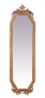 Casa Padrino Barock Wandspiegel Gold B 53 x H 183 cm - Edel & Prunkvoll