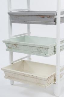 Casa Padrino Landhausstil Regalschrank Weiß / Mehrfarbig 54 x 32 x H. 86 cm - Handgefertigter Shabby Chic Regalschrank mit 3 Fächern - Vorschau 4