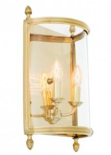 Casa Padrino Luxus Wandleuchte Messing Durchmesser 30 x 13 x H 42 cm - Luxus Leuchte