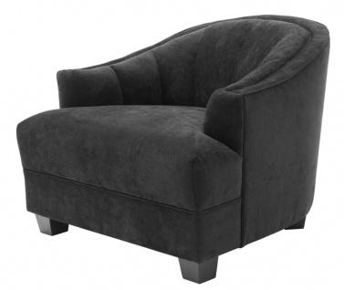 Casa Padrino Wohnzimmer Sessel in schwarz 93 x 90 x H. 75 cm - Luxus Möbel