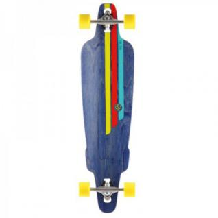Flying Wheels Longboard Drop Through Cruiser Rig Navy 38.5 Komplettboard - Carver - Special Edition mit Koston Kugellagern Drop Thru