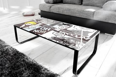 Casa Padrino Designer Beistelltisch Mehrfarbig B. 105 cm H. 33 cm - Comic Design - Vorschau 3