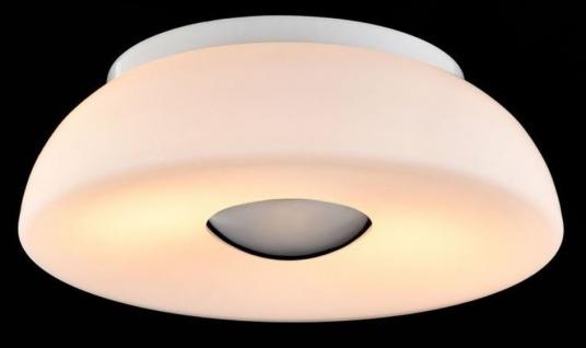 Casa Padrino Luxus Deckenleuchte Weiß / Silber Ø 30 x H. 10 cm - Wohnzimmer Deckenlampe - Vorschau 3
