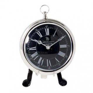Casa Padrino Designer Luxus Uhr mit Ständer 49 Regent Street London ø 18 x H. 26 cm - Edel & Prunkvoll