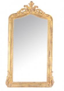 Casa Padrino Luxus Barock Wandspiegel Gold 150 x 75 cm - Massiv und Schwer - Goldener Spiegel
