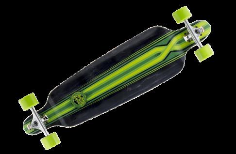 Mindless Complete Longboard Savage III Black/Green Drop Through 39.75 x 10.0 inch - Dropthrough Profi Longboard mit Koston Kugellagern