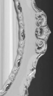 Casa Padrino Luxus Barock Wandspiegel Hellgrau / Silber 84 x 4 x H. 104 cm - Ovaler Antik Stil Spiegel - Edel & Prunkvoll - Vorschau 2