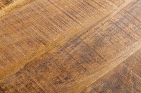 Casa Padrino Landhausstil Couchtisch Naturfarben / Weiß 110 x 60 x H. 45 cm - Handgefertigter Massivholz Wohnzimmertisch - Wohnzimmer Möbel im Landhausstil - Vorschau 5