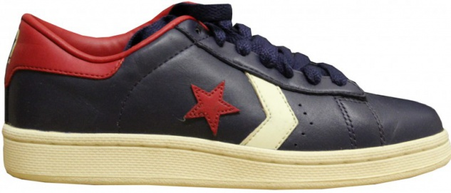 Converse Skateboard Schuhe Pro Leather Ox Navy/Cream/Red Sneakers shoes