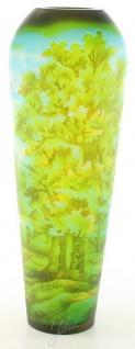 Casa Padrino Cameoglas Vase Eichenwald Mehrfarbig Ø 16, 2 x H. 44 cm - Luxus Deko Blumenvase - Vorschau 2