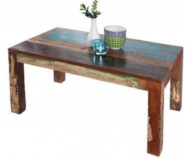 Casa Padrino Designer Massivholz Couchtisch Bunt 100 x H. 45 cm - Massivholz - Salon Wohnzimmer Tisch