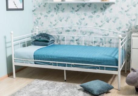 Casa Padrino Landhausstil Bett 209 x 98 x H. 95 cm - Verschiedene Farben - Metall Einzelbett - Schlafzimmer Möbel im Landhausstil