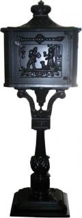 Standbriefkasten Antik Jugendstil Schwarz Mod5 Briefkasten Postkasten Alu - Säulenbriefkasten