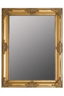 Casa Padrino Barock Wandspiegel Gold Höhe 82 cm, Breite 62 cm - Edel & Prunkvoll - Vintagelook - Handgefertigt