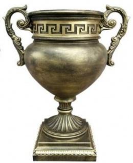 Casa Padrino Barock Deko Vase Antik Gold H. 50 cm - Prunkvolle Blumenvase im Barockstil - Barock Deko Accessoires