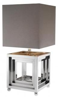 Casa Padrino Designer Edelstahl Tischleuchte - Luxus Qualität