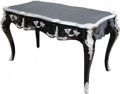 Casa Padrino Luxus Barock Schreibtisch Schwarz / Silber Sekretär Luxus Möbel - Vorschau 2