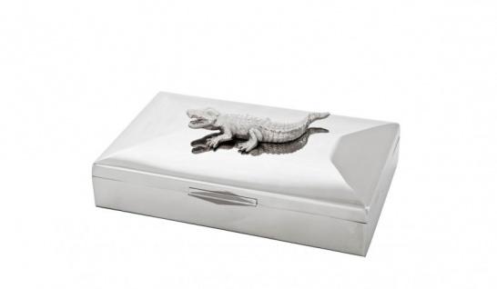Casa Padrino Luxus Beauté Box Krokodil 33 x 22 x H. 13, 5 cm - Luxus Kollektion