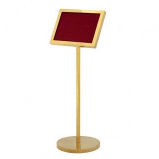 Luxus Schild Ständer Gold - ideal für Hotels, Restaurants, Cafes, Clubs, Discotheken, Messen - Vorschau