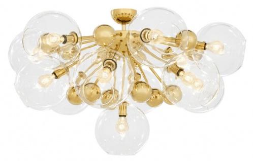 Casa Padrino Luxus Deckenleuchte Gold Ø 90 x H. 57 cm - Luxus Kollektion