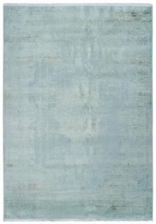 Casa Padrino Wohnzimmer Teppich Vintage Mintfarben - Verschiedene Größen - Rechteckiger Acryl Teppich im Vintage Look