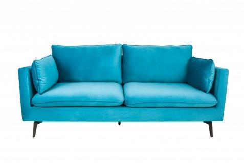 Casa Padrino Designer Wohnzimmer Sofa Blau 210 x 85 x H. 90 cm - Designer Möbel