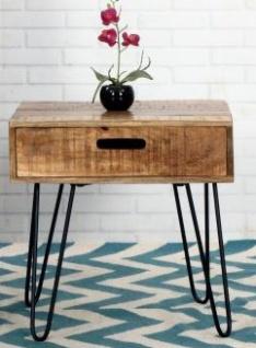 Casa Padrino Designer Beistelltisch Mango Natur 50cm - Massivholz
