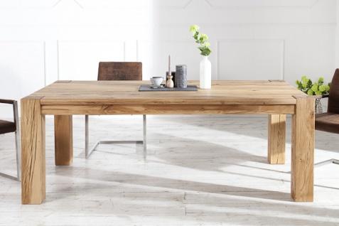 Casa Padrino Designer Massivholz Esstisch Natur - Eiche - 200 x 100 x H.75 cm - Vorschau 2