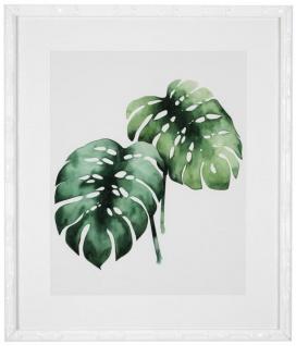 Casa Padrino Bilder / Kunstdruck Set Tropische Pflanzen Grün / Weiß 59 x H. 69 cm - Luxus Deko - Vorschau 4