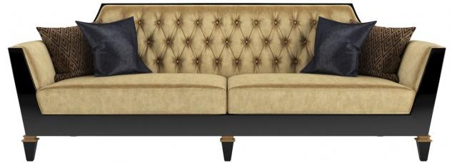 Casa Padrino Luxus Barock Wohnzimmer Sofa Gold / Schwarz 260 x 95 x H. 93 cm - Prunkvolle Wohnzimmer Möbel im Barockstil