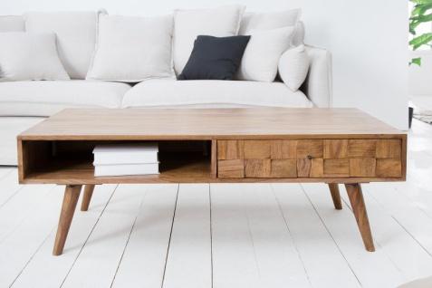 Casa Padrino Designer Massivholz Couchtisch Natur B.117 x H.40 x T. 60 Salon Wohnzimmer Tisch - Vorschau 2