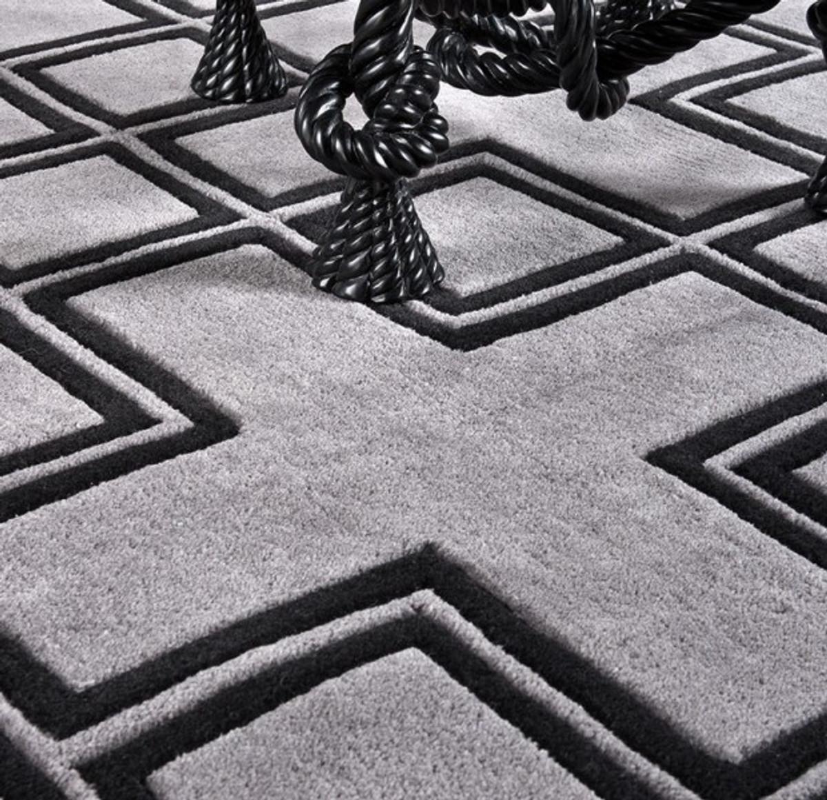 Luxus Teppich wunderschöner luxus teppich aus 100% neuseeland-wolle mit mäander