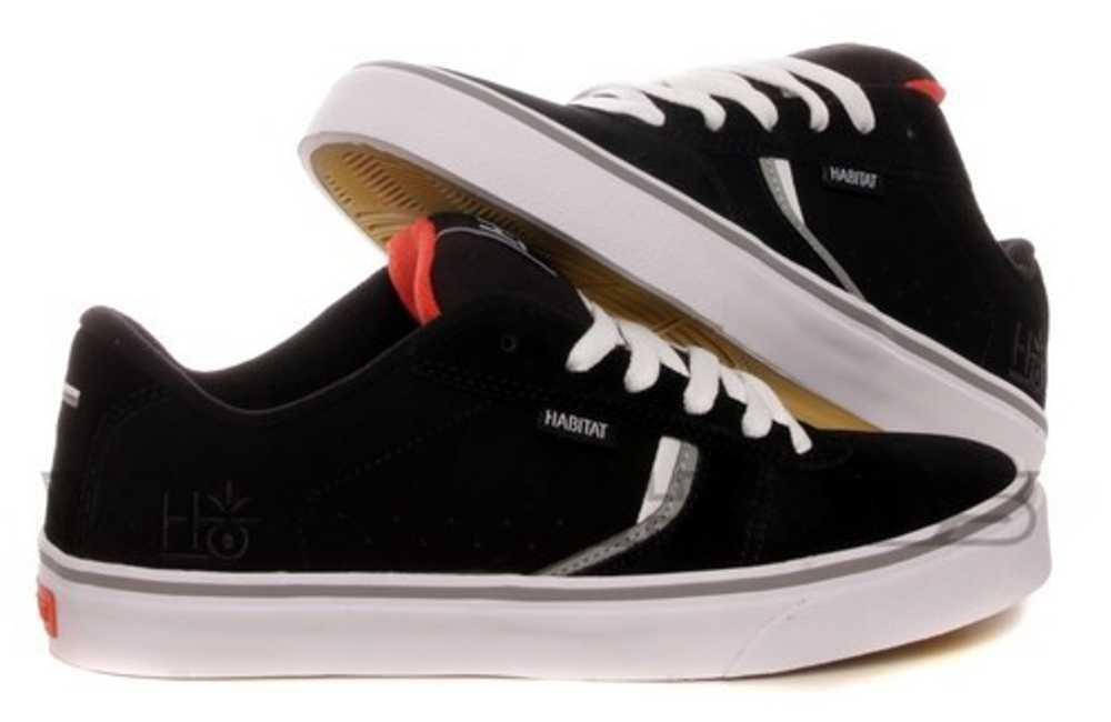 Habitat Skateboard Schuhe Lark Suede schwarz