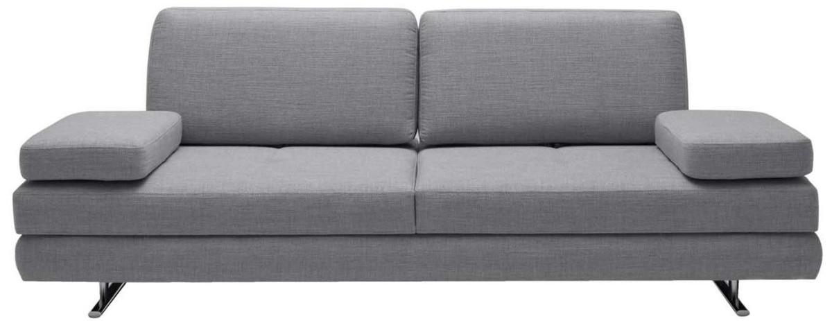 Casa Padrino Luxus Wohnzimmer Sofa Mit Umklappbaren Armlehnen Grau 218 X 108 X H 81 Cm Luxus Mobel Kaufen Bei Demotex Gmbh