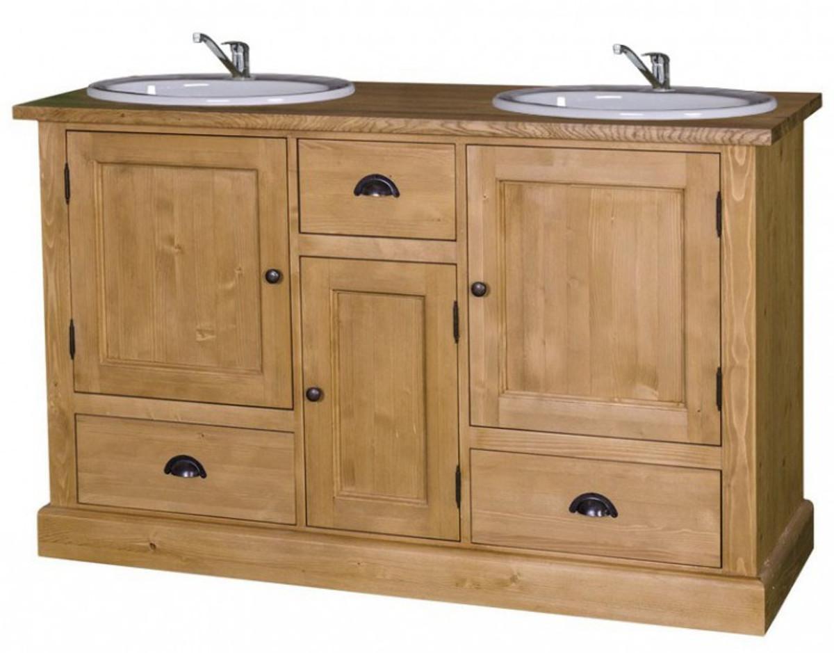 casa padrino landhaus stil waschschrank waschtisch inkl 2 waschbecken mit vielen f chern bad. Black Bedroom Furniture Sets. Home Design Ideas