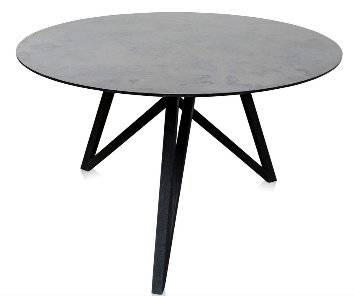 Designer Esszimmermöbel casa padrino luxus esstisch mit mineralbeschichteter tischplatte 120
