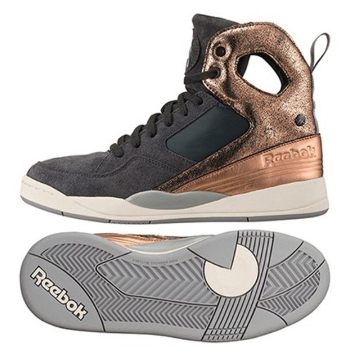 Reebok Damen Sneaker Schuhe Schuhe Sneaker Alicia Keys Court Gravel Rose Gold ... e4b537