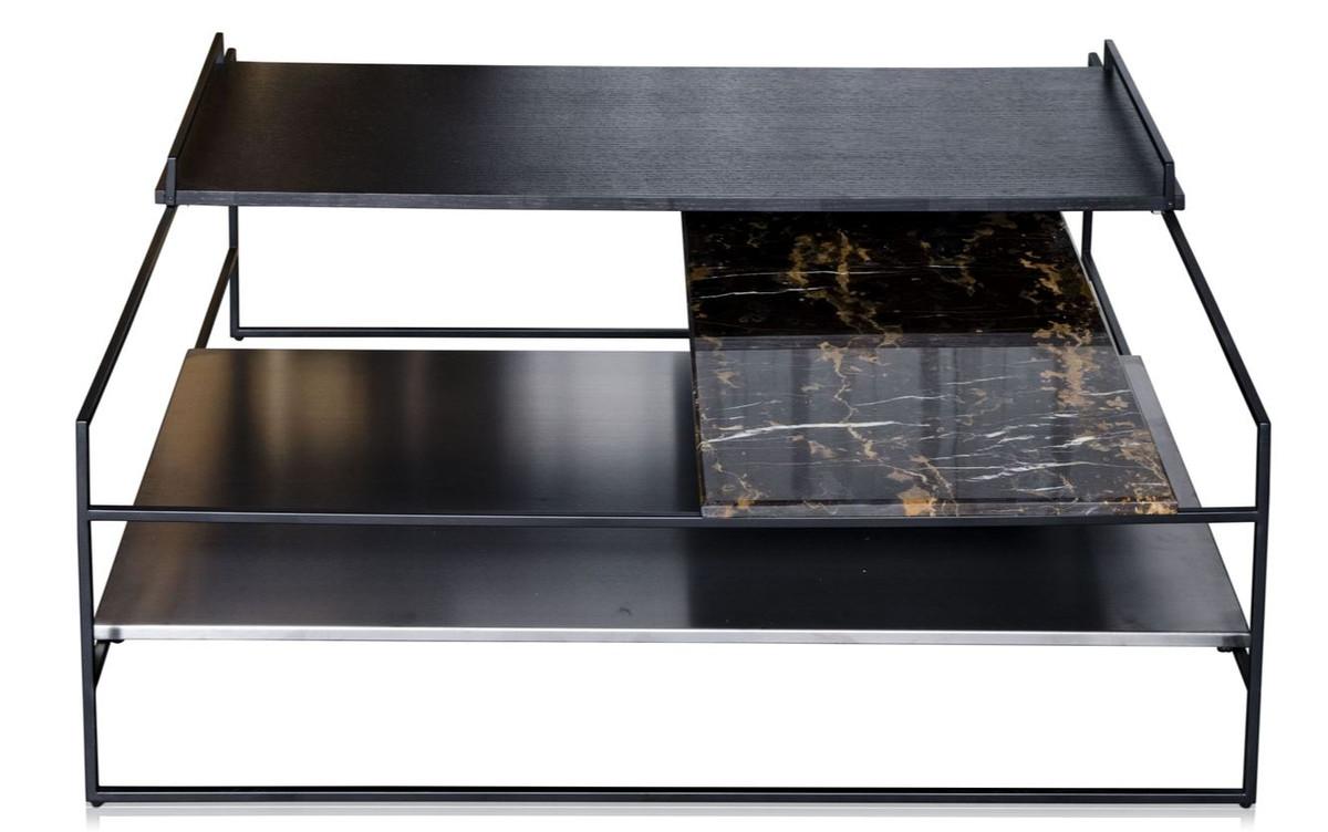 Casa Padrino Luxus Couchtisch Schwarz 100 X 100 X H 39 5 Cm