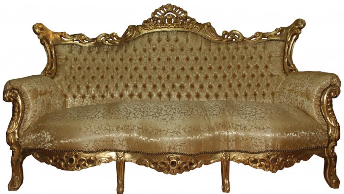 Antik möbel sofa  Casa Padrino Barock Sofa 3er Master Gold Muster /Gold- Antik Möbel ...