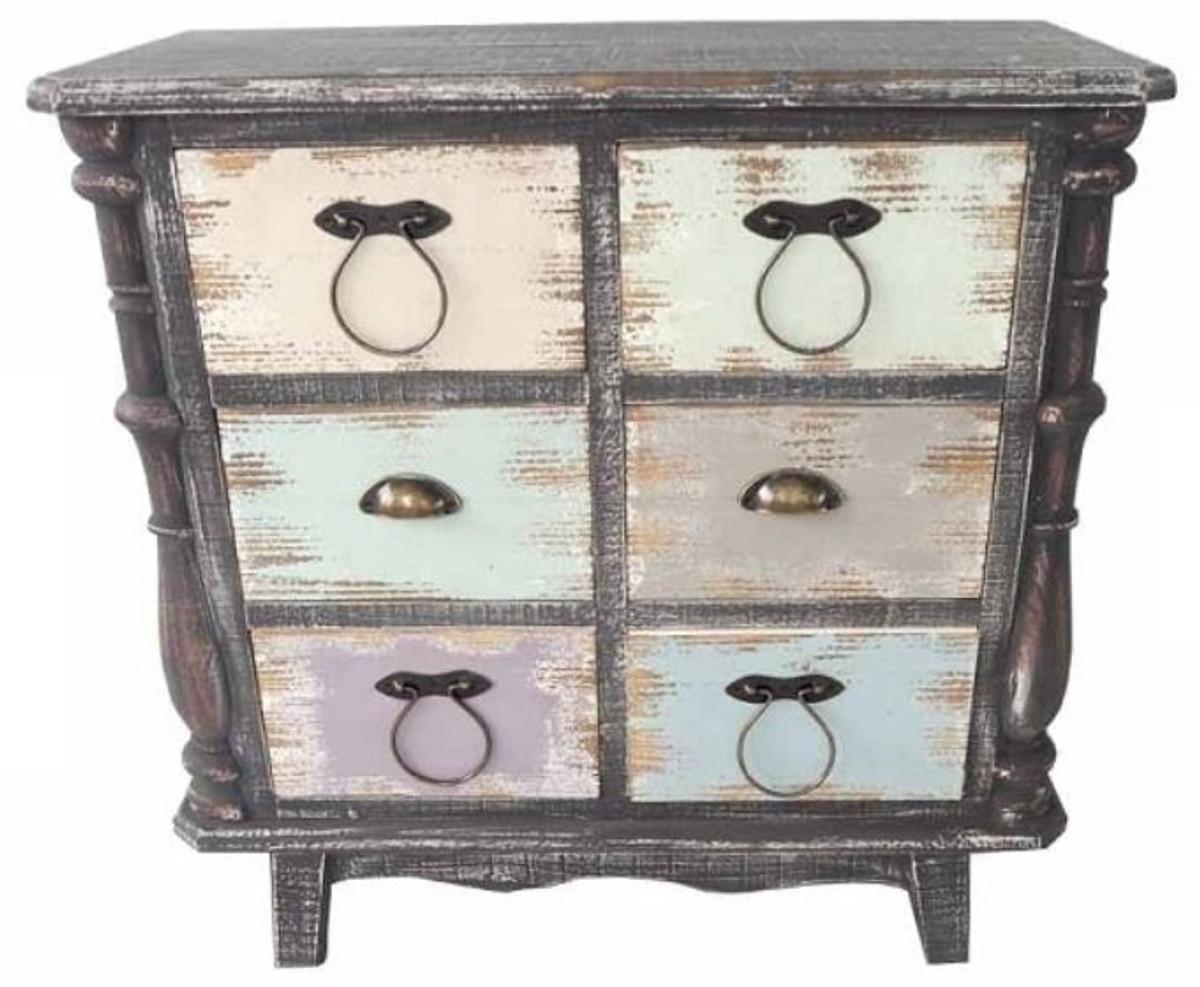 casa padrino landhausstil kommode antik schwarz mehrfarbig 80 x 38 x h 79 cm kommode im